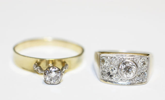 Two diamond rings,