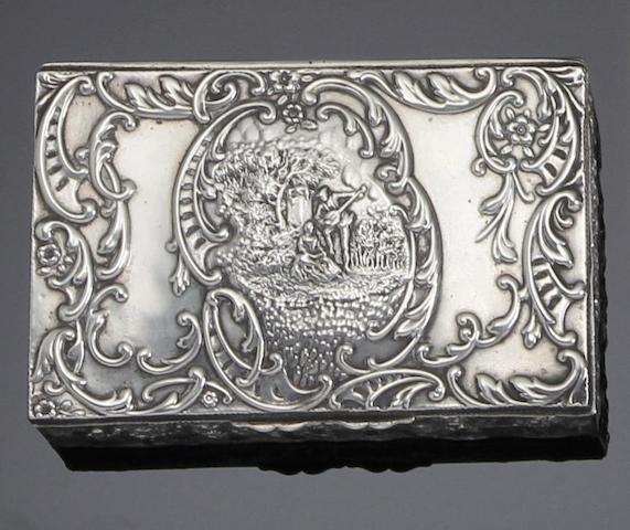 A Victorian silver rectangular jewellery box by Levi and Salaman, Birmingham 1901