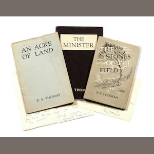 THOMAS (R.S.) The Stones of the Field, 1946; An Acre of Land, [1951]; The Minister, 1953; and 5 others, also by Thomas (8)
