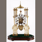 A Large 19th Century skeleton clock