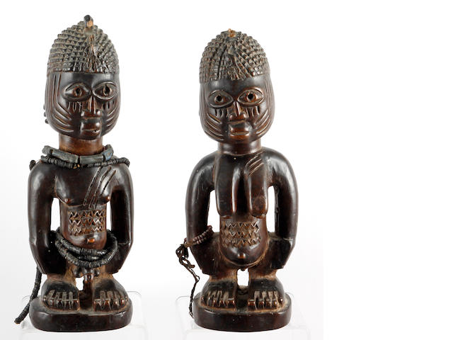 A pair of Yoruba twin figures (2)