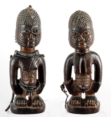 A pair of Yoruba twin figures (2)