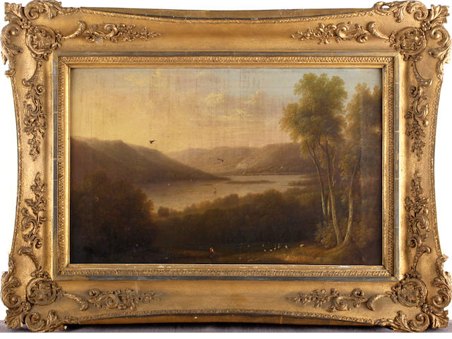 D. Williamson (British XIXth Century) Part of Windermere Lake, Westmorland, inscribed on reverse,