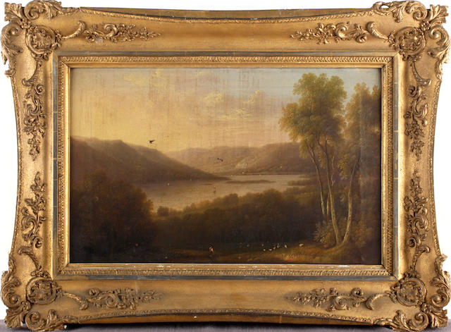 D. Williamson (British XIXth Century) Part of Windermere Lake, Westmorland, inscribed on reverse,