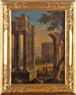Circle of Norbert Joseph Carl Grund (Czechoslovakian, 1717-1767) Capriccio of Ruins