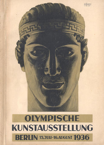 OLYMPIC ART CATALOGUE Olympischer Kunstwettbewerb. Katalog Der Olympischen Kunstausstellung...15 Juli-16 August 1936, Berlin, Kupfertiefdruck Meisenbach Riffarth, [1936]