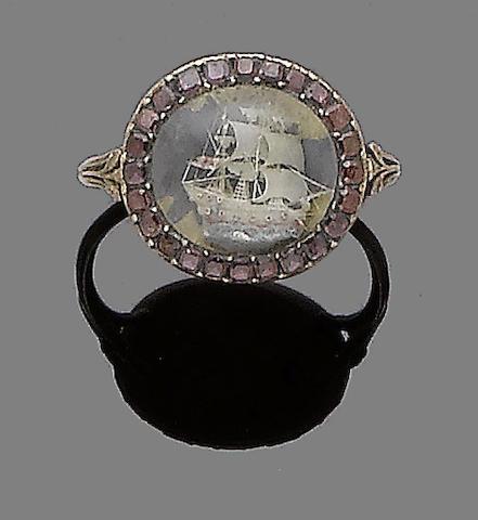 A century garnet ring,