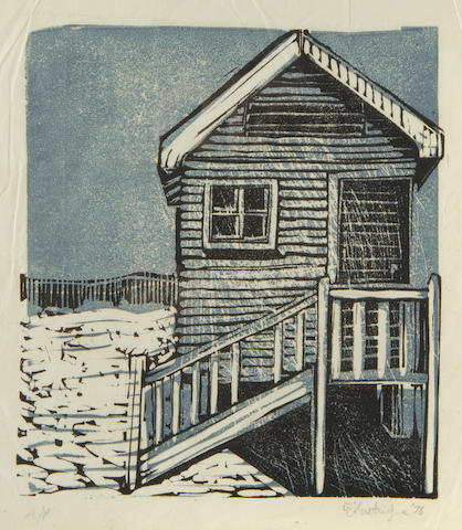 William Joseph Kentridge (South African, born 1955) Beach hut 17 x 15cm (6 11/16 x 5 7/8in)(B).