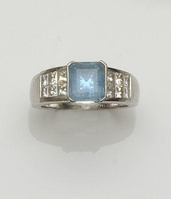 Boodles: An aquamarine and diamond ring