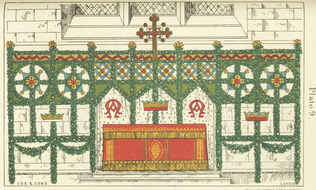 COX (EDWARD YOUNG) The Art of Garnishing Churches at Christmas; and 3 others (4)