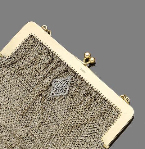 A gold evening bag