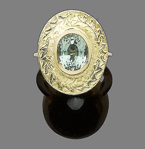 A tourmaline dress ring