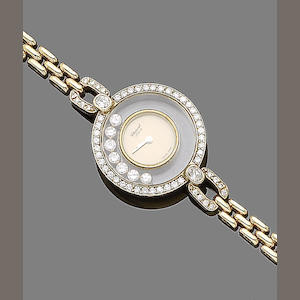 A 'Happy Diamond' bracelet watch, by Chopard