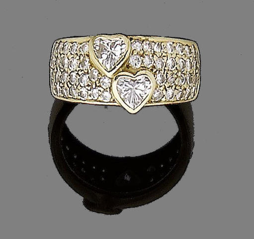 A diamond dress ring, by Adler