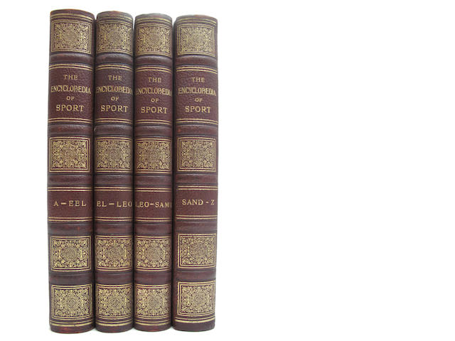 PEEK (HEDLEY) and FREDERICK GEORGE AFLALO The Encyclopaedia of Sport, 4 vol.