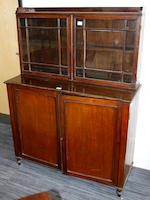 A Regency mahogany low bookcase