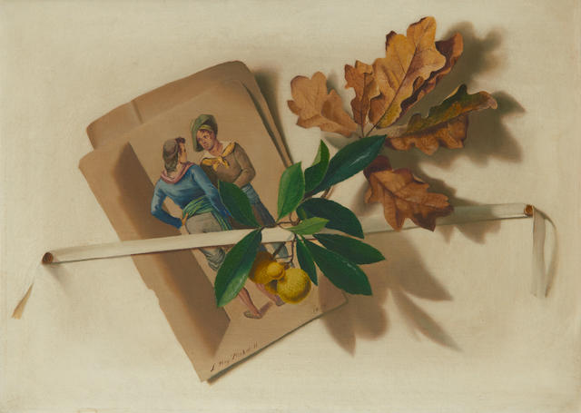 Leslie Roy Hobdell (British, 1911-1961) Trompe L'Oeil with Arbutus
