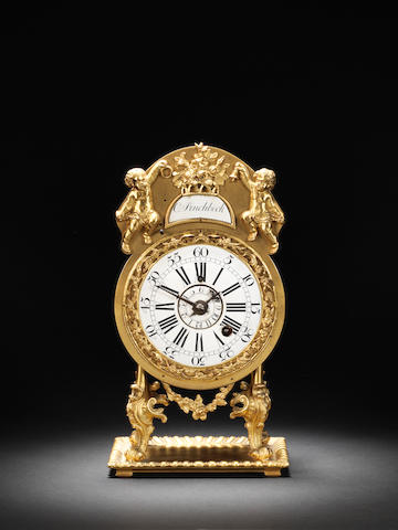 An interesting third quarter of the 18th century gilt metal alarm timepiece Christopher Pinchbeck