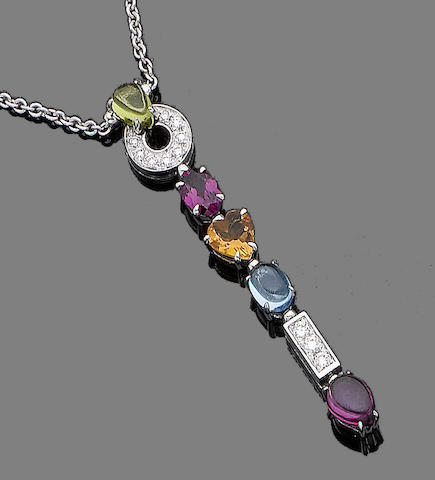 A gem-set pendant necklace, by Bulgari