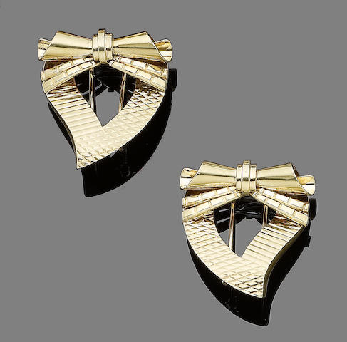 A pair of brooches, by Tiffany & Co. (2)