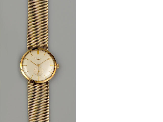 Longines: A 9ct gold gentleman's wristwatch