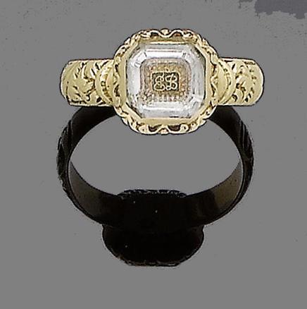 A gold memorial ring