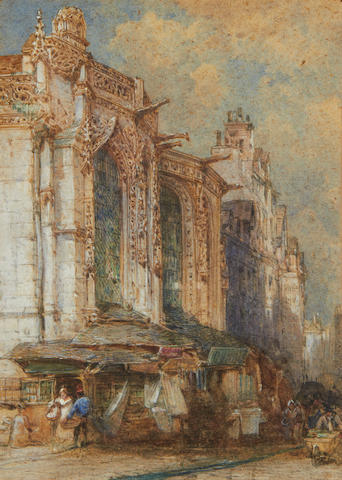 William Callow, RWS (British, 1812-1908) Church of St Sauveur, Caen