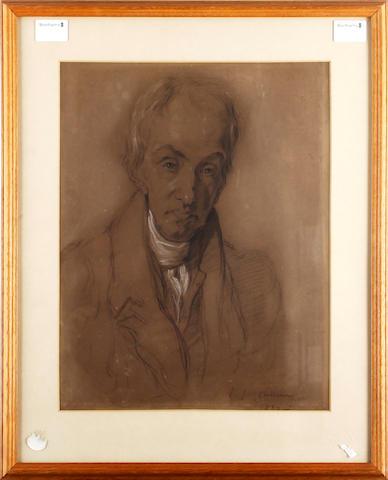 John Joseph Cotman (British, 1814-1878) Portrait of a gentleman