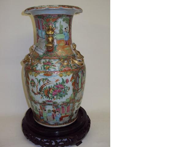 A Chinese export famille rose vase