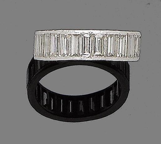 A diamond eternity ring