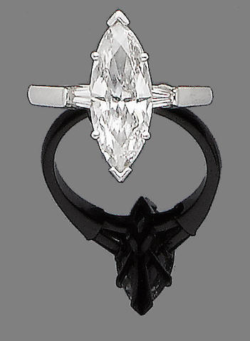 A diamond single-stone ring, by Graff