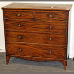 A 19th Century mahogany chest,