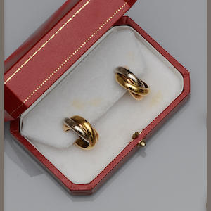 Cartier: A pair of earstuds