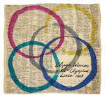A 1948 London Olympics silk scarf designed and made by Ena Pitfield RA (1917-2012)