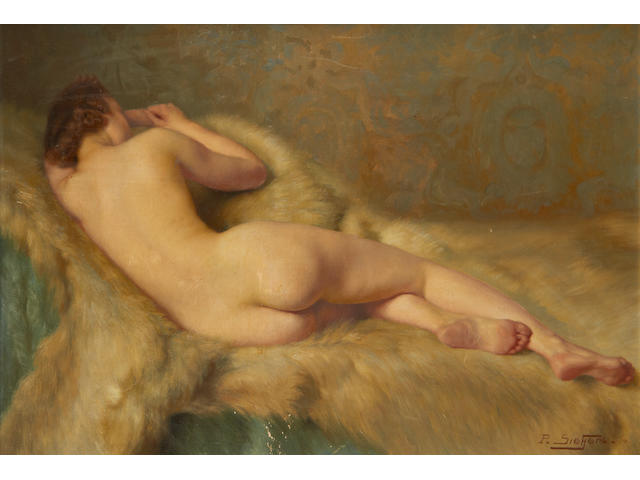 Paul Sieffert (French, 1874-1957) Nude couchante