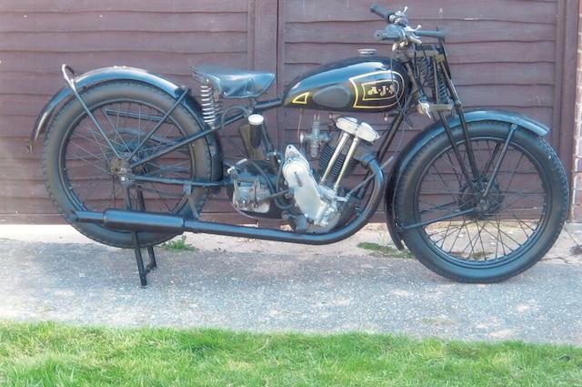 1933 AJS 249cc Model 12 'Big Port' Frame no. 1135 Engine no. 138383