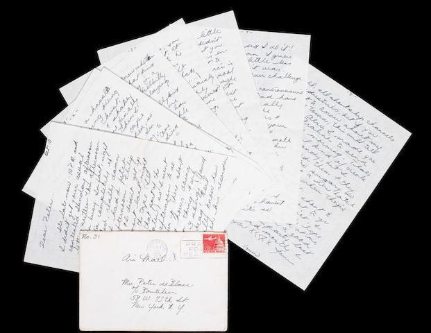 Janis Joplin: An eight page handwritten letter together with original envelope, date October 10 (1965), 9