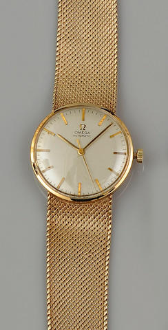 Omega: A 9ct gold gentleman's wristwatch