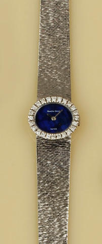 Bueche Girod: A diamond set wristwatch