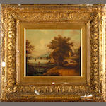 British School, 19th century River landscapes, a pair each 23.5 x 28cm (9 1/4 x 11in), (2).