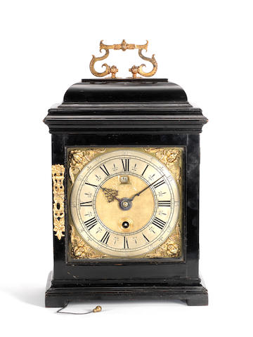 A most interesting late 17th century ebonised quarter repeating bracket timepiece  Hannah Jones, ye Widow of Henry Jones