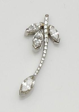 A diamond set pendant