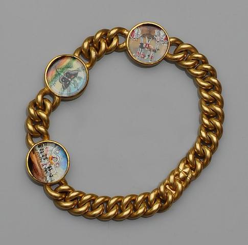 A painted panel bracelet