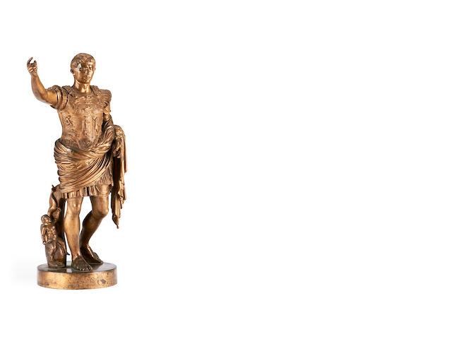 Benedetto Boschetti, Italian A late 19th century bronze figure of Caesar Augustus