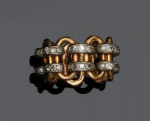 A diamond band dress ring