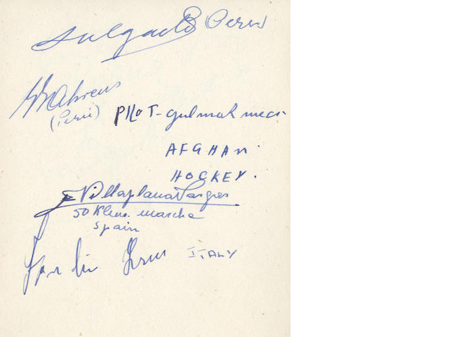 1948 London Olympic games autographs