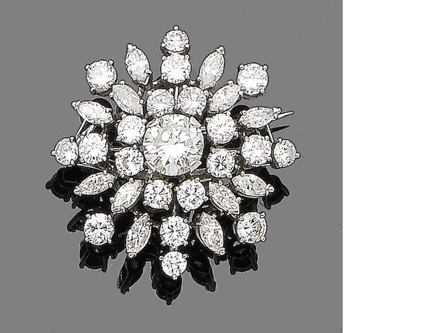 A diamond star brooch