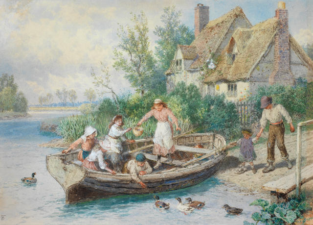 Myles Birket Foster, RWS (British, 1825-1899) The ferry