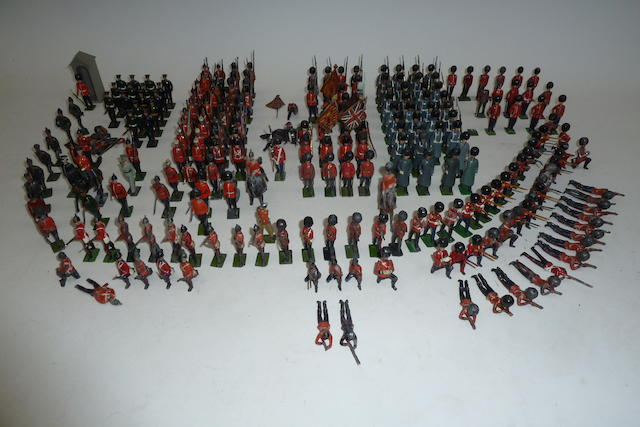 Britains British Infantry in full dress 230 approx