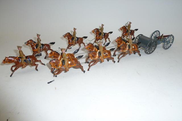 Britains set 144a, Royal Horse Artillery, Service Dress 13